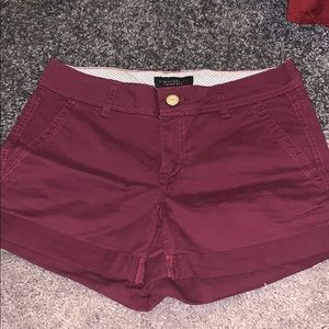 Soft, maroon shorts
